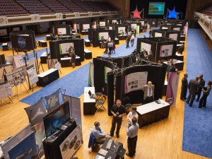 Throngs of excited participants crowd a recent NASA Technology Day